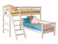 Детская кровать Соня угловая с наклонной лестницей Вариант 8