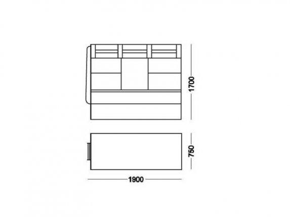 Кровать 2-х ярусная № 2 с ящиком венге