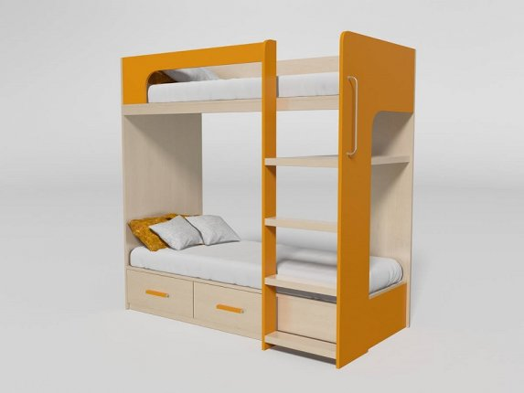 Кровать 2-х ярусная № 7 манго