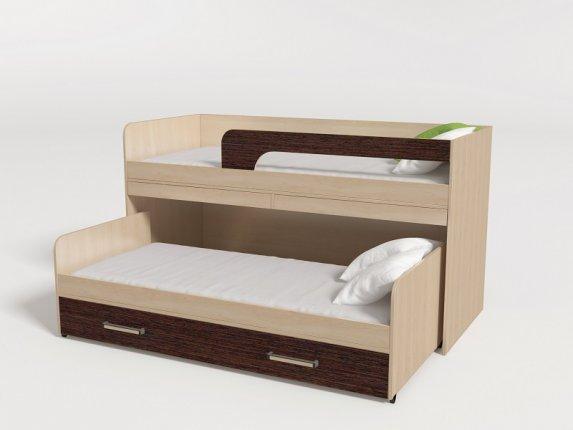 Кровать 2-х ярусная выкатная № 11 венге
