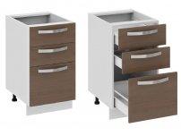 Кухня Бьюти Шкаф нижний с 3-мя ящиками Н3я-72-45-3Я 822х450х582мм