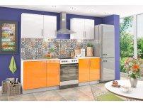 Кухонный гарнитур Хелена оранжевый