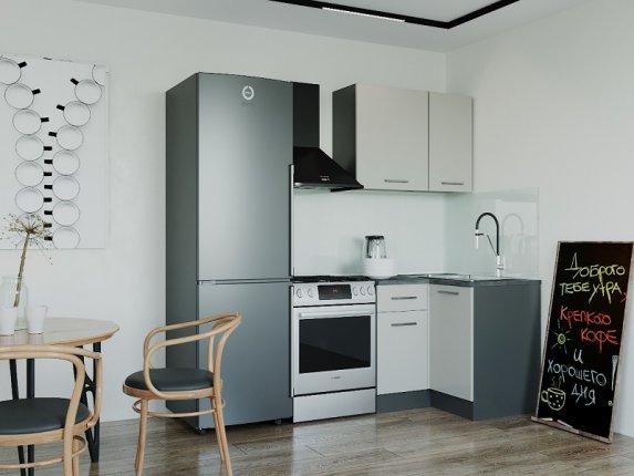 Кухонный гарнитур угловой Сатин 1000У