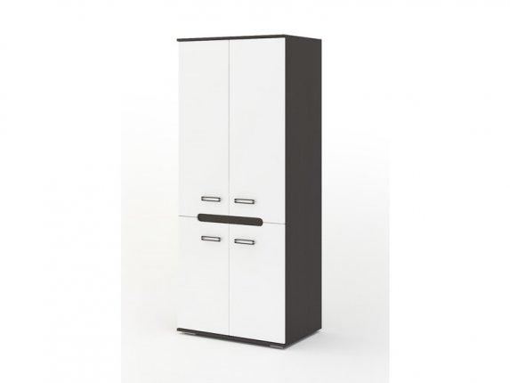 Шкаф 2-х створчатый Града венге-белый глянец