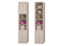 Шкаф для книг с 3 ящиками и дверкой Верона