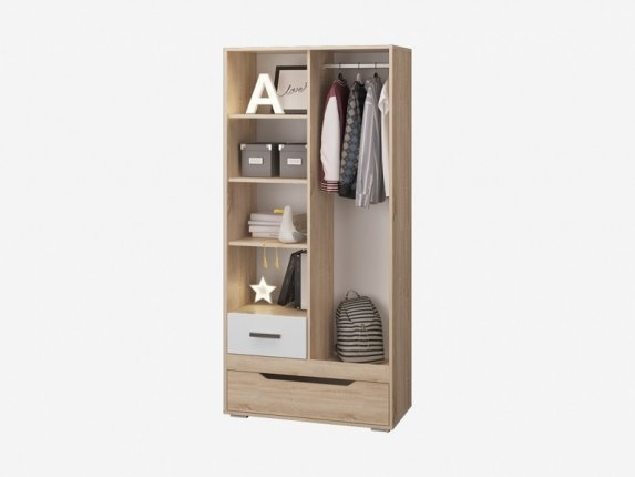 Шкаф для одежды с 2 ящиками Джуниор
