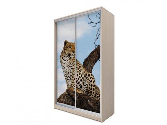Шкаф-купе 2-х дверный Хит-77 фотопечать Леопард