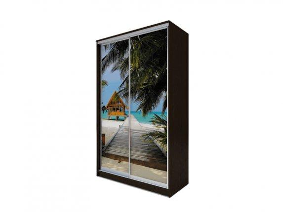 Шкаф-купе 2-х дверный Хит-77 фотопечать Пляж