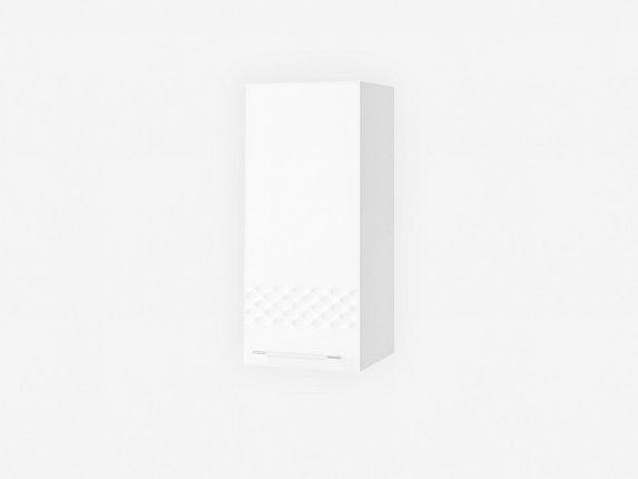 Шкаф навесной П300 Капля МДФ белый глянец ШхВхГ 300х700х280 мм