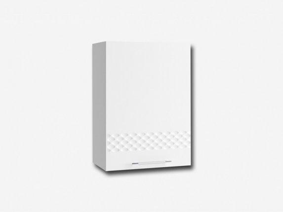 Шкаф навесной П500 Капля МДФ белый глянец ШхВхГ 500х700х280 мм