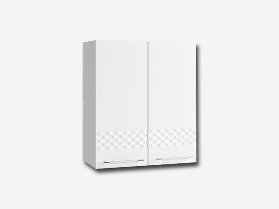Шкаф навесной П600 Капля МДФ белый глянец ШхВхГ 600х700х280 мм