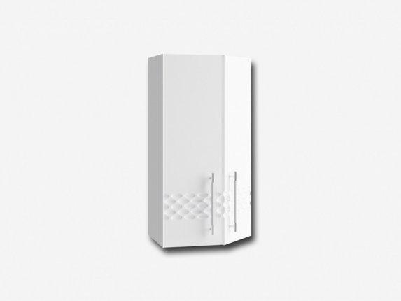 Шкаф навесной торцевой ПТ400 Капля МДФ белый глянец ШхВхГ 400х700х280 мм
