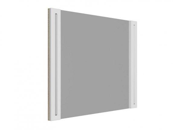 Зеркало навесное Мадлен МДФ Фотопечать Серебро ШхВхГ 802х628х34 мм